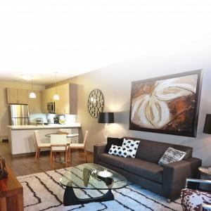 Open floor plan at Harlan Flats Apartments in Wilmington DE