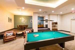 Pool table at Reside BPG's Wilmington apartments for rent
