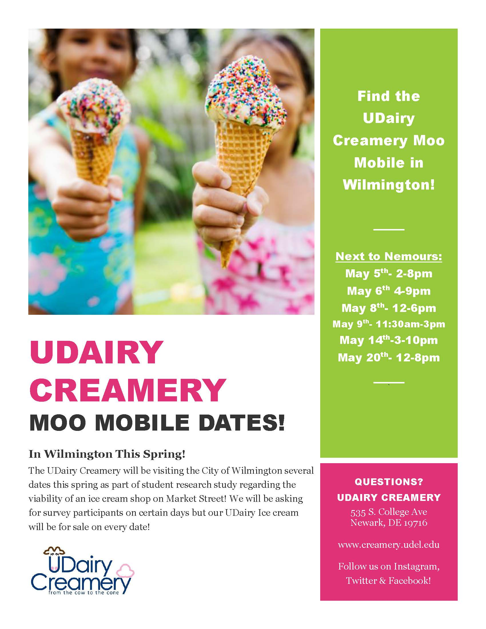 Wish UDairy Creamery Would Open an Ice Cream Parlor on Market Street? Look for the 'Moo Mobile' This May!