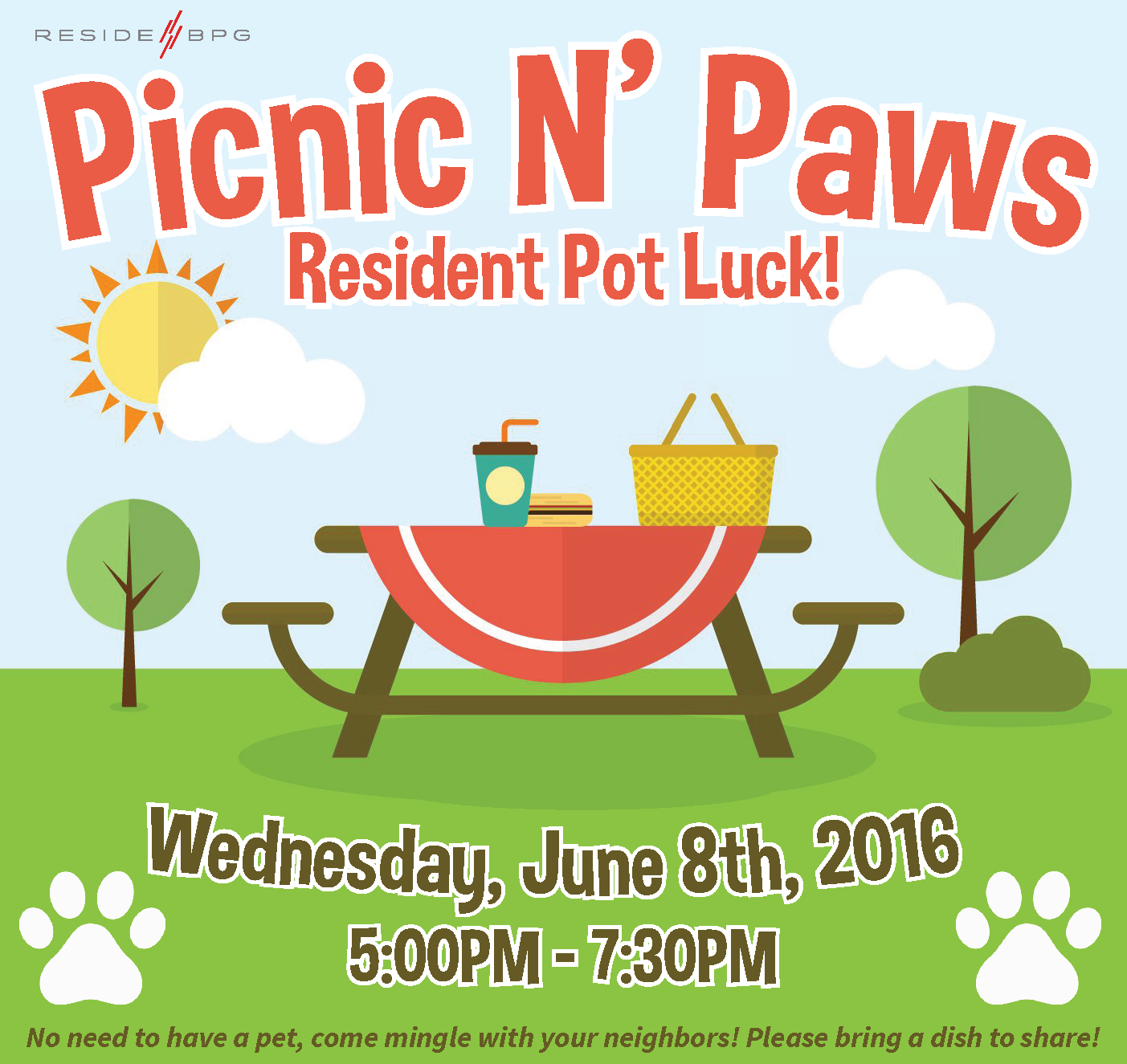 Join Us for Picnic & Paws!
