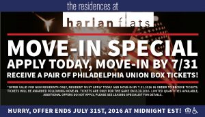 Fourth of July Move In Promotion The Residences at Harlan Flats