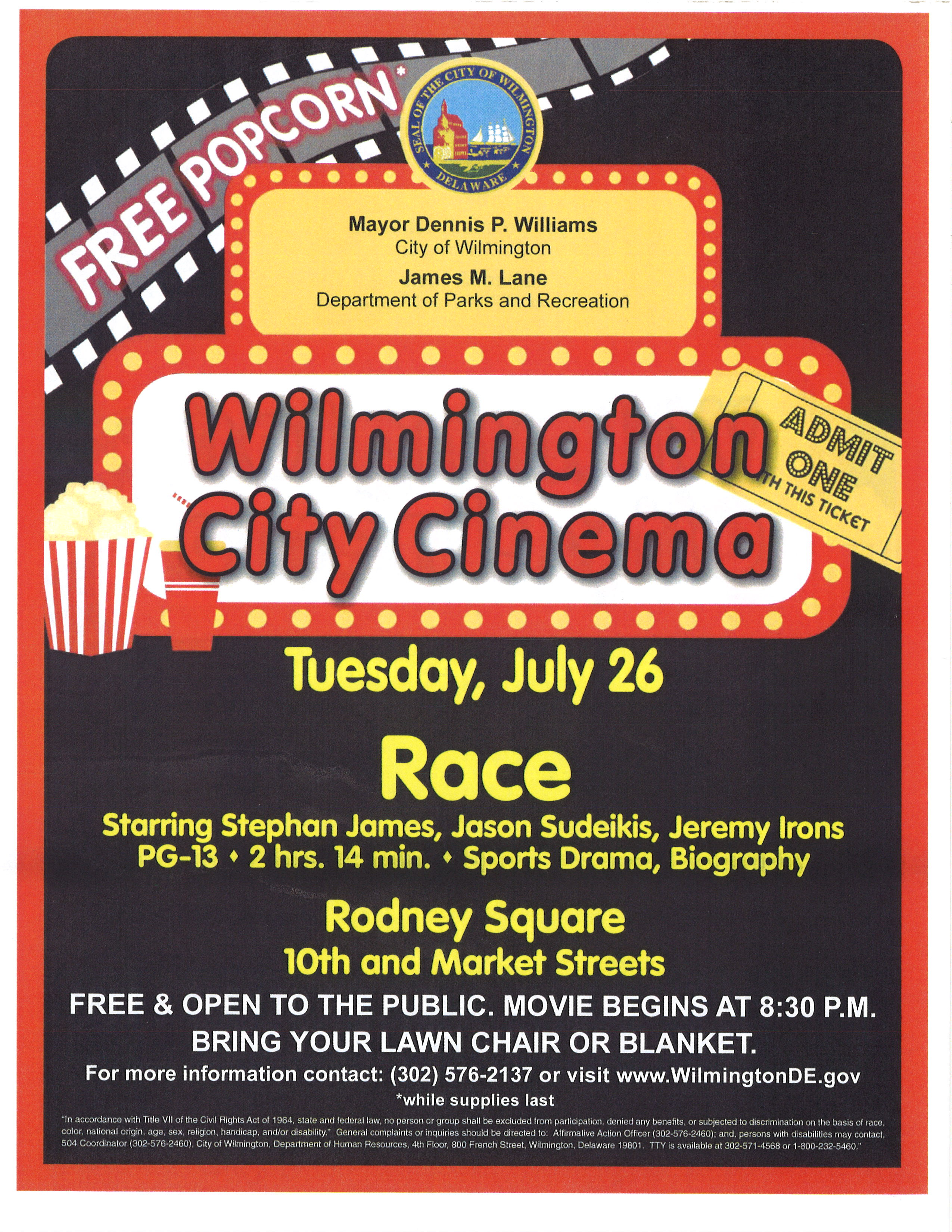 Rodney Square Events Free Movie Nights