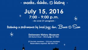 Join Us for On the Town-Snacks, Drinks & History