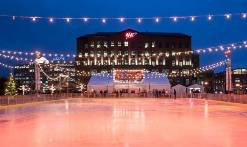 Get In the Holiday Spirit With a Lap Around the Riverfront Rink, Returning for the Season on Nov. 25