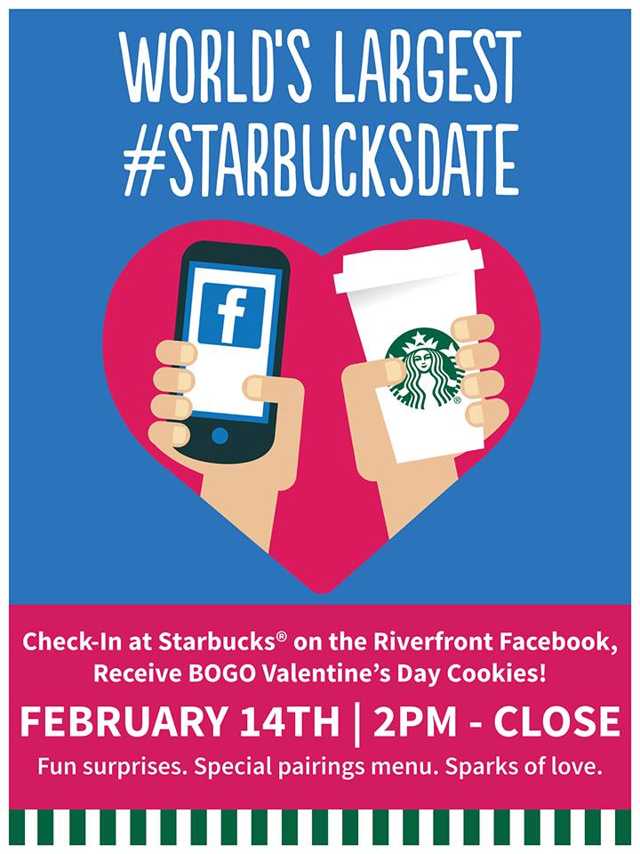 Join us for the World's Largest #StarbucksDate on February 14th!