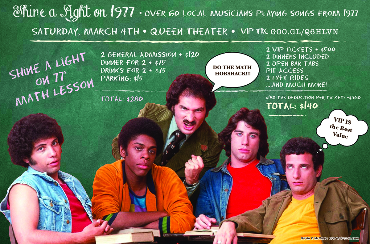 Join Us for The Shine a Light on 1977 Concert March 4th!