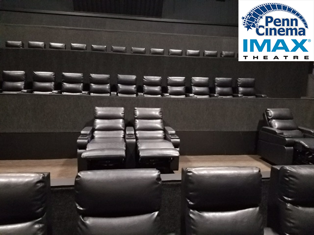 New Plush Recliners and Online Seating Reservations at PENN CINEMA!