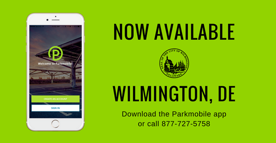 Parkmobile in Downtown Wilmington DE
