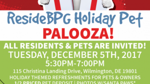 Join us for the ResideBPG Holiday Pet Palooza on December 5!
