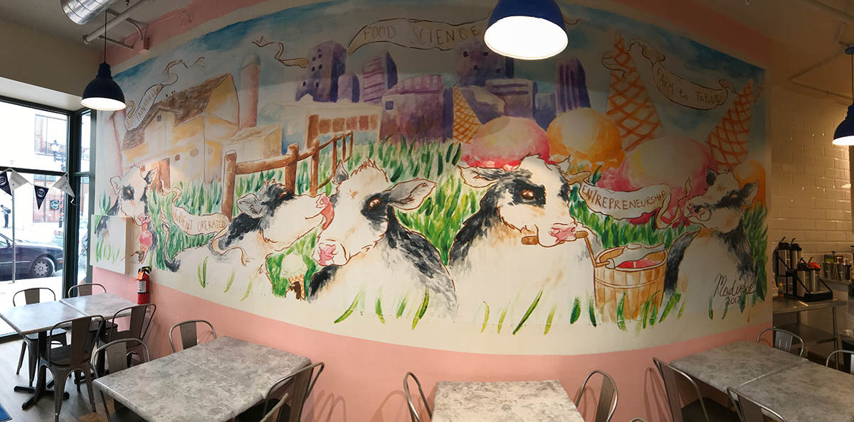 Meet Madison Bacon, Creator of the New Mural in UDairy Creamery on Market Street!