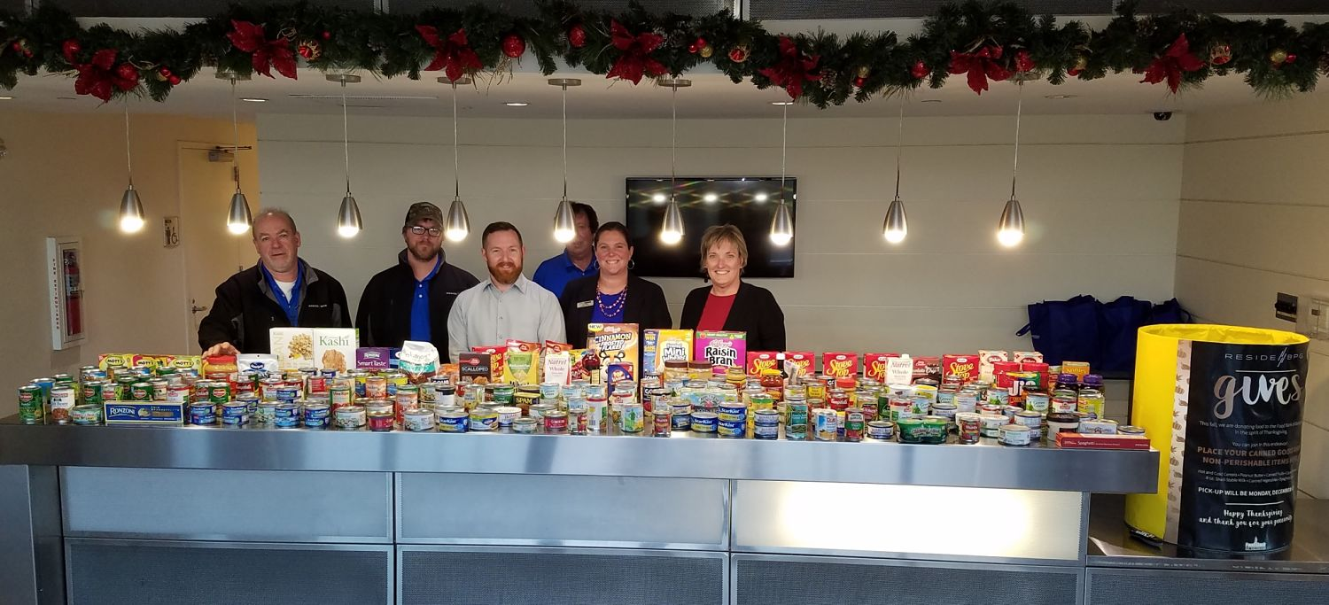 ResideBPG Collects Over 700 Pounds of Food for the Food Bank of Delaware