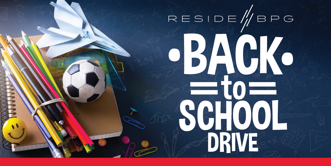 Support Local Students in Need: ResideBPG is Holding A Back To School Donation Drive!