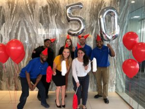 the residences at mid-town park team celebrates