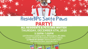 Join us for our annual ResideBPG Santa Paws Party!