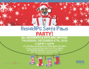 Invitation to ResideBPG Santa Paws Party