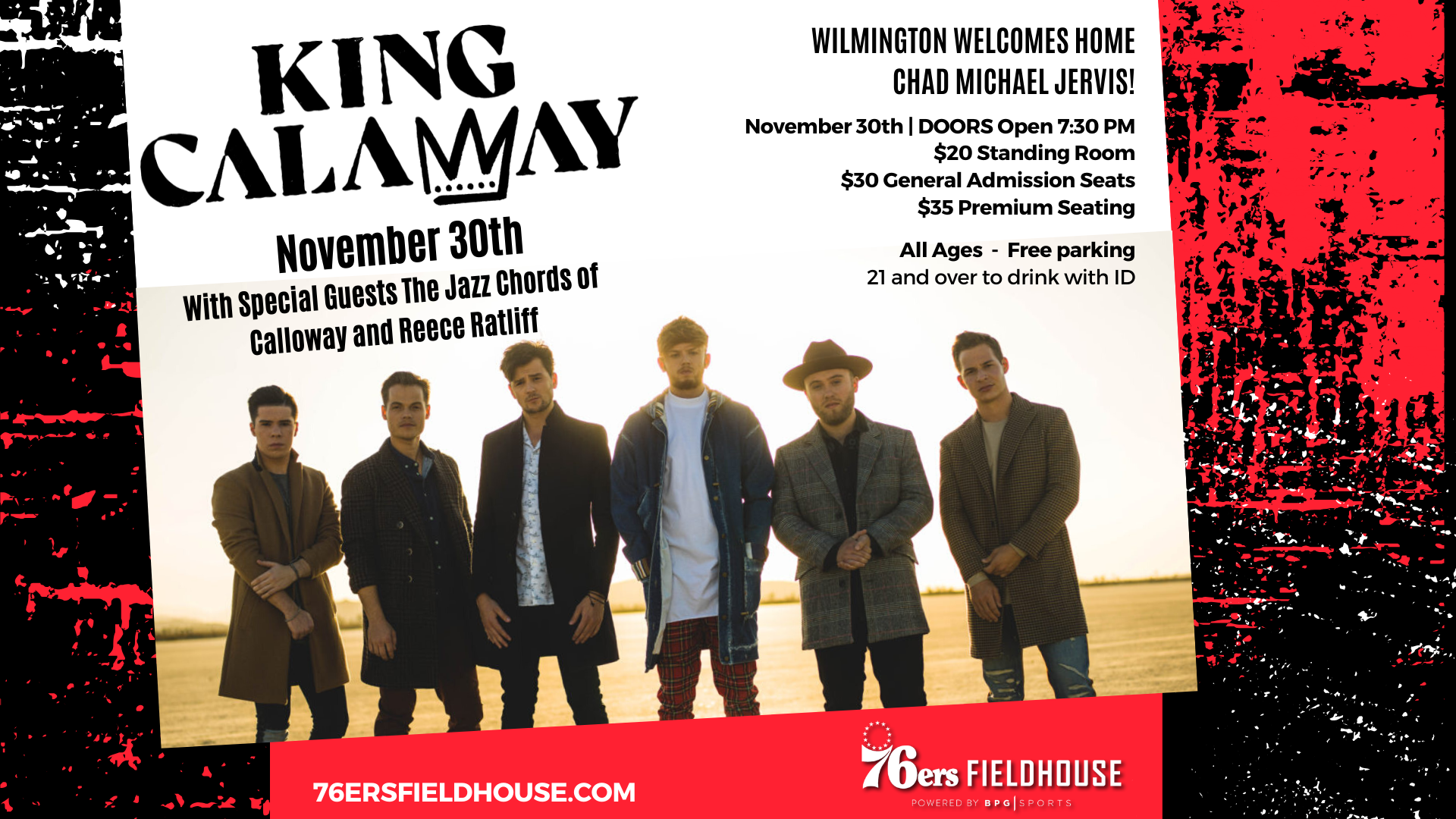 King Calaway Concert at 76ers Fieldhouse November 30