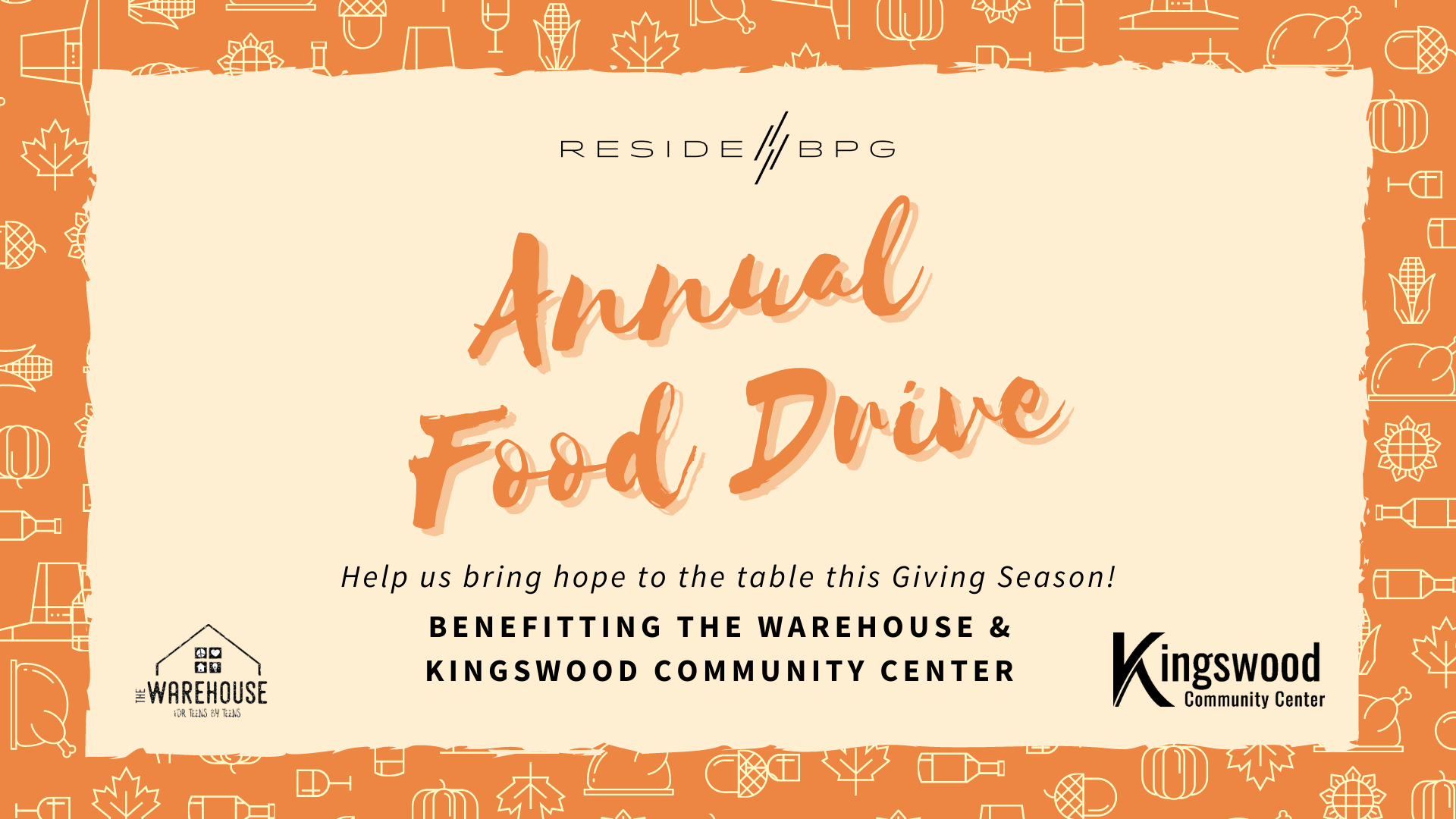 Bring Hope to the Table: ResideBPG Annual Food Drive