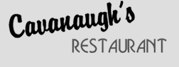 Cavanaugh's Restaurant logo black and white