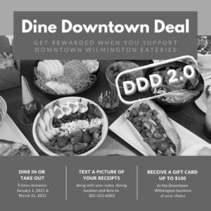 Array of food Dine Downtown Deal Wilmington DE