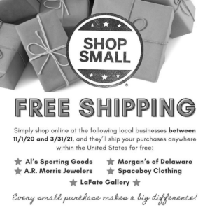 shop small free shipping for online purchases from select retailers