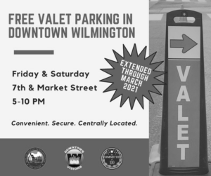 Free Valet parking in Downtown Wilmington DE