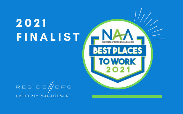 ResideBPG Named 2021 Finalist in NAA Best Places to Work Awards